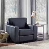 Alex Upholstered Contemporary Chair, Black, 37-3/4''W x 34-1/2''D x 34-1/2''H
