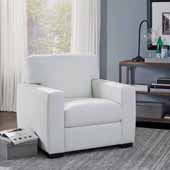 Erin Upholstered Contemporary Chair, Ivory, 37-3/4''W x 34-1/2''D x 34-1/2''H