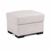 Erin Upholstered Contemporary Ottoman, Ivory, 24-1/4''W x 20-1/2''D x 17-1/4''H