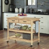 46-1/2'' Wide Savannah Natural Kitchen Cart in Maple, 46-1/2'' W x 20-1/2'' D x 36'' H