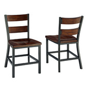 Cabin Creek Dining Chair Pair, Multi-Step Chestnut, 18'' W x 21-1/4'' D x 34'' H