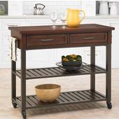 Cabin Creek Kitchen Cart, Chestnut, 43-3/4'' W x 20-1/2'' D x 36''H