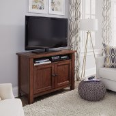 44'' Wide Tahoe Entertainment Stand in Aged Maple, 44'' W x 18'' D x 32'' H