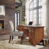 Tahoe Executive Pedestal Desk in Aged Maple, 54'' W x 23-3/4'' D x 30'' H