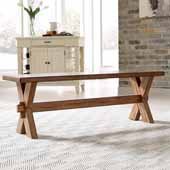 Sedona Trestle Dining Bench In Toffee, 54''W x 14''D x 18''H