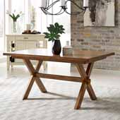 Sedona Rectangular Trestle Dining Table In Toffee, 60''W x 38-1/4''D x 30''H