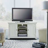 Dover 56'' W Entertainment Stand, Accommodate Up to Most 60'' TVs, White Painted, 56'' W x 18'' D x 32-1/4'' H