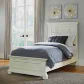 Dover Twin Bed, White, 44-1/2''W x 83-1/4''D x 54''H