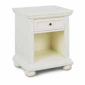 Dover Night Stand, White, 23-1/2''W x 18''D x 28-1/4''H