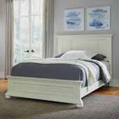 Dover Queen Bed, White, 66-1/2''W x 89-1/4''D x 54''H
