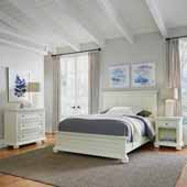 Dover Queen Bed, Night Stand, and Chest, White