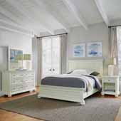 Dover Queen Bed, Night Stand and Dresser with Mirror, White