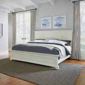 Dover King Bed, White 82-1/2''W x 89-1/4''D x 54''H