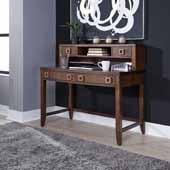 Bungalow Student Desk & Hutch, Medium Brown, 46''W x 24''D x 42-1/2''H