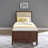 Bungalow Twin Bed, Medium Brown, 40-1/2''W x 81-1/2''D x 52''D