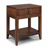 Bungalow Night Stand, Medium Brown, 24''W x 18''D x 28''H