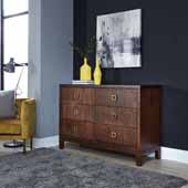 Bungalow Dresser, Medium Brown, 54''W x 18''D x 36''H