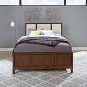 Bungalow Queen Bed, Medium Brown, 62-1/2''W x 87-1/2''D x 52''D
