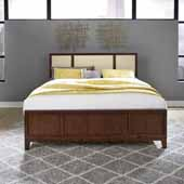 Bungalow King Bed, Medium Brown, 78-1/2''W x 81-1/2''D x 52''D
