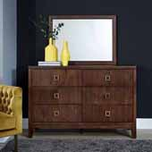 Bungalow Dresser & Mirror, Medium Brown, 54''W x 36''D x 64''H