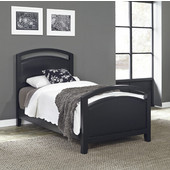 Prescott Twin Bed, Black, 41''W x 2''D x 50''H
