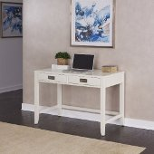 Newport Student Desk in Satin White, 44'' W x 24'' D x 30'' H