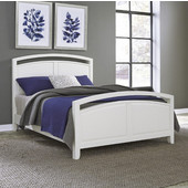 Newport King Bed, White, 79''W x 2''D x 50''H