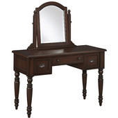 Country Comfort Vanity and Mirror, Aged Bourbon, 46''W x 19''D x 55-1/2''H