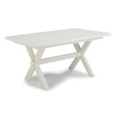 Seaside Lodge Dining Trestle Table, White Painted, 60'' W x 38'' D x 30-1/4'' H