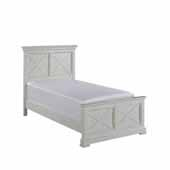 Seaside Lodge Twin Bed, White, 46''W x 83''D x 50''H