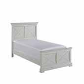 Seaside Lodge Twin Bed, White, 46''W x 83''D x 50''H