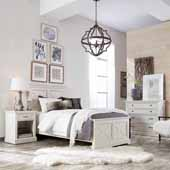 Seaside Lodge Twin Bed, Night Stand, and Chest, White