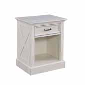 Seaside Lodge Night Stand, White, 22''W x 17''D x 26''H