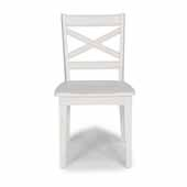 Seaside Lodge Set of 2 Dining Chairs In White, 18-1/4''W x 21-1/4''D x 34''H
