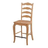 Counrty Lodge Counter Stool in Natural Honey Pine, 18-1/2'' W x 22-1/4'' D x 46-1/4'' H