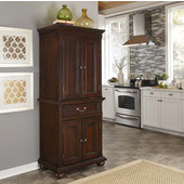 Colonial Classic Pantry in Dark Cherry, 30''W x 19-3/4''D x 72''H