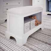 Naples Storage Bench, White, 28-1/4''W x 15''D x 20-1/4''H