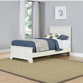 Naples Twin Bed, White Finish, 42-3/4''W x 81-1/2''D x 44''H