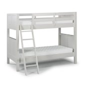 Naples Collection Twin Over Twin Bunk Bed in Off White, 77'' W x 44'' D x 64-3/4'' H