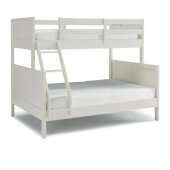 Naples Collection Twin Over Full Bunk Bed in Off White, 78'' W x 58'' D x 64-3/4'' H