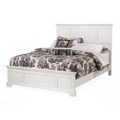 Naples White King Bed, 80-3/4'' W x 87'' D x 52'' H