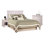 Naples White King Headboard, Night Stand, and Chest