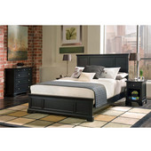 Bedford Black King Bed, 80-3/4'' W x 87'' D x 52'' H