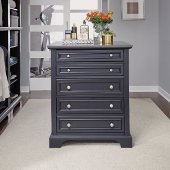 30'' Wide Bedford Closet Island in Satin Black, 30'' W x 30-3/4'' D x 36'' H