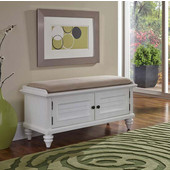 Bermuda Upholstered Bench in Brushed White, 47-1/4''W x 18''D x 21''H