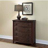 36'' W x  18'' D x 36'' H Marco Island Drawer Chest in Refined Cinnamon Finish