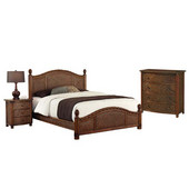 Marco Island King Bed, Night Stand, and Chest, Cinnamon
