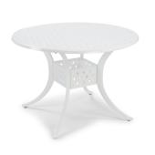 La Jolla Cast Aluminum Outdoor 42'' Round Dining Table in White Powder-Coated Finish, 42''Diameter x 28-3/4'' H