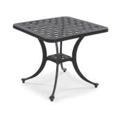 La Jolla Cast Aluminum Outdoor Accent Table in Gray Powder-Coated Finish, 21'' W x 21'' D x 18-1/2'' H
