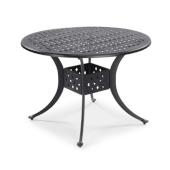 La Jolla Cast Aluminum Outdoor 42'' Round Dining Table in Gray Powder-Coated Finish, 42''Diameter x 28-3/4'' H